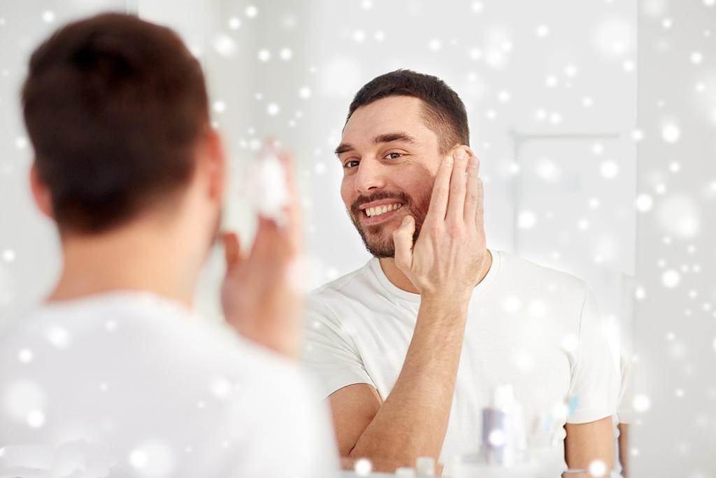 A man in skin care